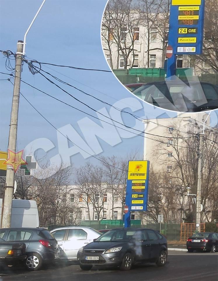 Aşa arăta preţul benzinei şi al motorinei la o staţie de alimentare în această dimineaţă