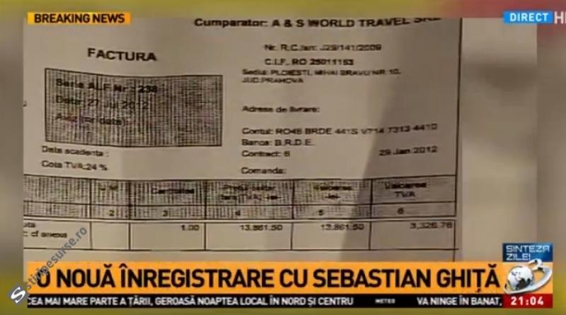 Factura deplasării la Cluj-Napoca.