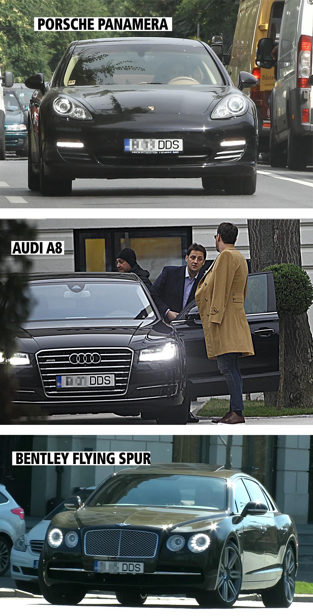De-a lungul timpului, milionarul şi-a pus la numărele de înmatriculare ale maşinilor lui iniţialele DDS. Aşa se întâmplă şi acum, în cazul noului Bentley