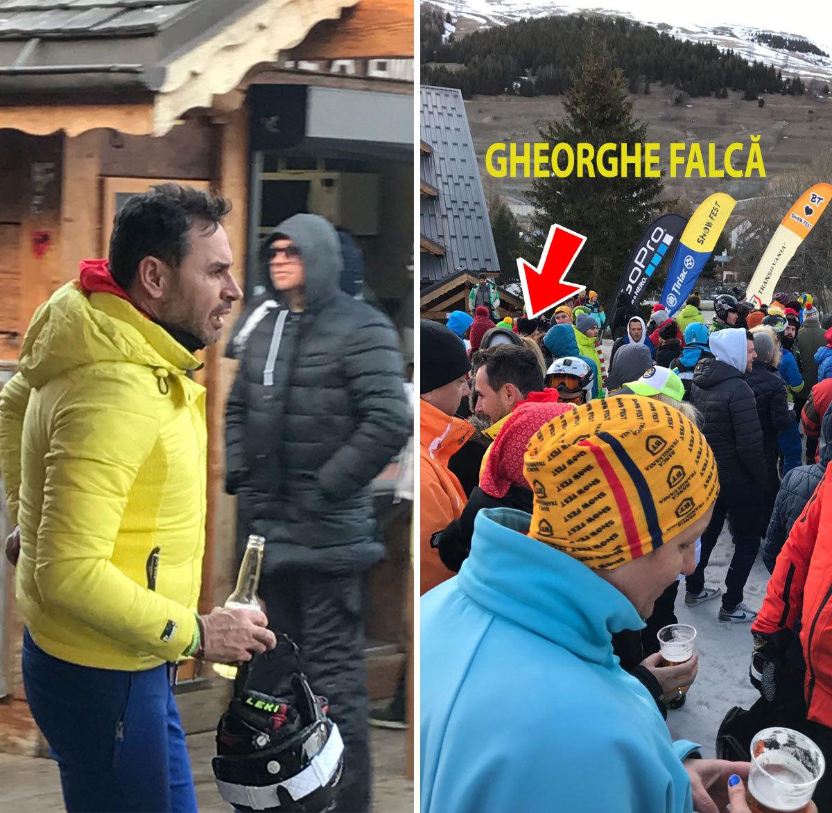 """Gheorghe Falcă s-a dus la ski, cu prietenii, dar în Alpi şi a fost fotografiat """"La Umbrella"""""""