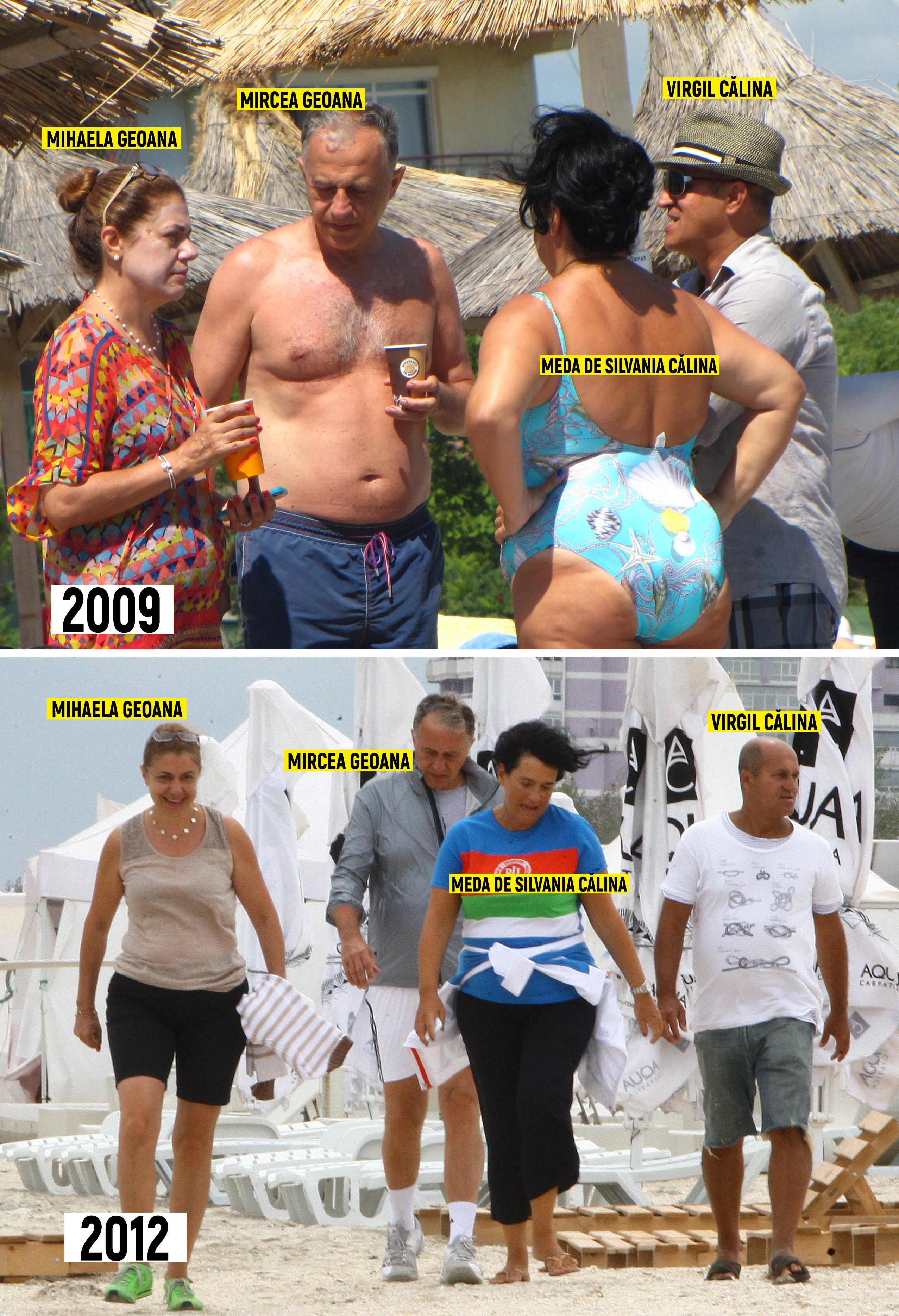 În ciuda declaraţiilor lui Virgil Călina, familia lui şi cea a lui Mircea Geoană sunt extrem de apropiate. Meda şi Virgil Călina, alături de Mihaela şi Mircea Geoană, au fost fotografiaţi în mai multe rânduri, la plajă, de către reporterii CANCAN.ro