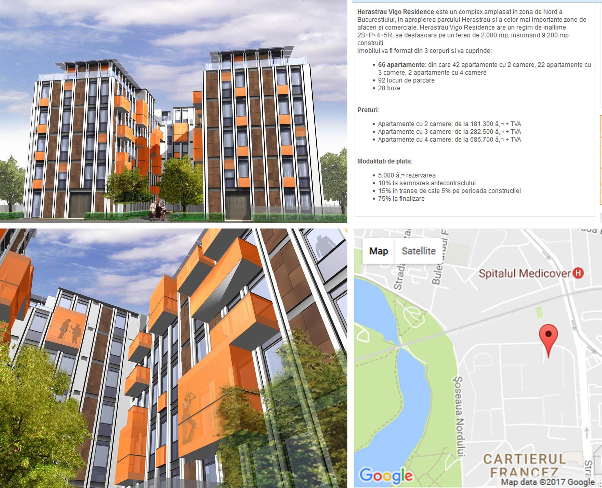 """În urmă cu 8 ani, italianul Giancarlo Vigo scotea la vânzare cele mai scumpe apartamente din România în ansamblul """"Herăstrău Vigo Residence"""""""