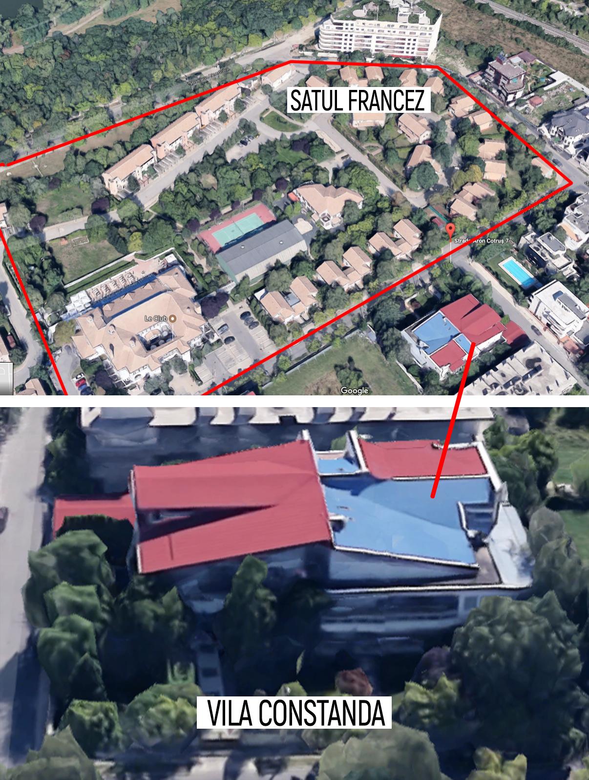 Palatul cu care Constanda a girat la bancă se află aproape de Satul Francez şi a fost evaluat la 2,2 milioane de euro
