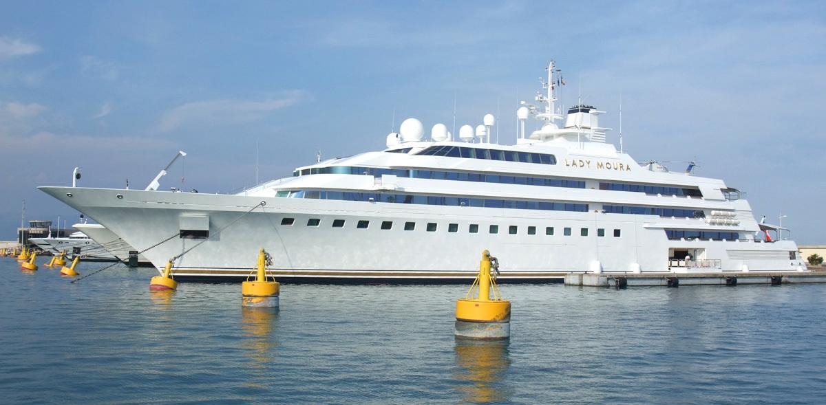 Cele mai scumpe iahturi din lume. Lady Moura - 210 milioane de dolari