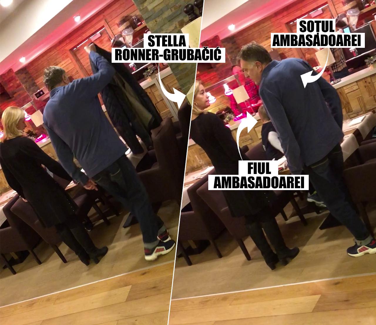 1 IANUARIE, ORA 19.45. Când au coborât din cameră la cină, diplomata olandeză s-a aşezat cu familia iniţial la o masă mai mică, aşteptând să ajungă şi familia Iordache în restaurant