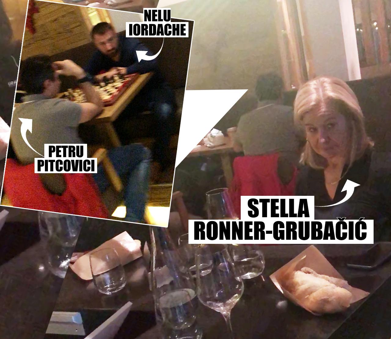 """1 IANUARIE, ORA 20.00. Înainte de cină, Stella Ronner Grubacic s-a întreţinut la bar cu o altă doamnă, în timp ce Nelu Iordache îşi """"făcea poftă de mâncare"""" la o masă mai în spate, jucând şah cu Petru Pitcovici"""