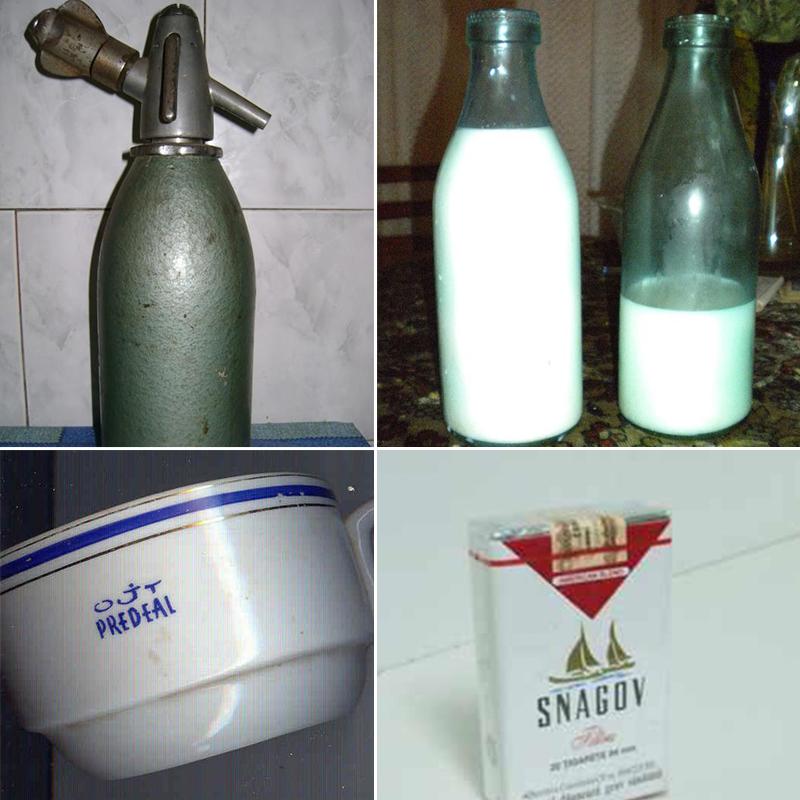 In anii '80, in orice camara din Romania ai fi cautat, cu siguranta gaseai cateva sifoane si multe astfel de sticle de lapte