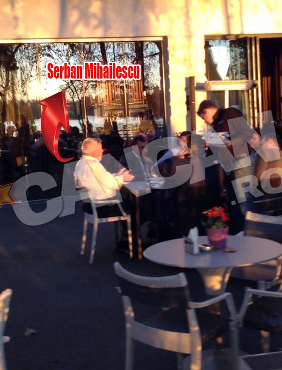 Serban Mihailescu i-a luat locul din fruntea mesei sarbatoritului, in cateva randuri