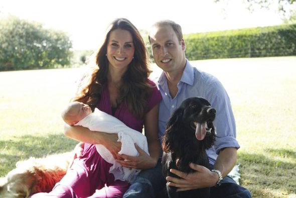William si Kate paziti de cainii familiei