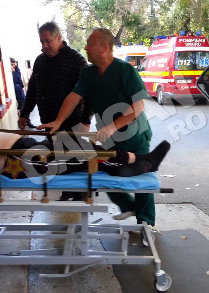 Adrian Iovan impreuna cu tatal sau la spitalul elias