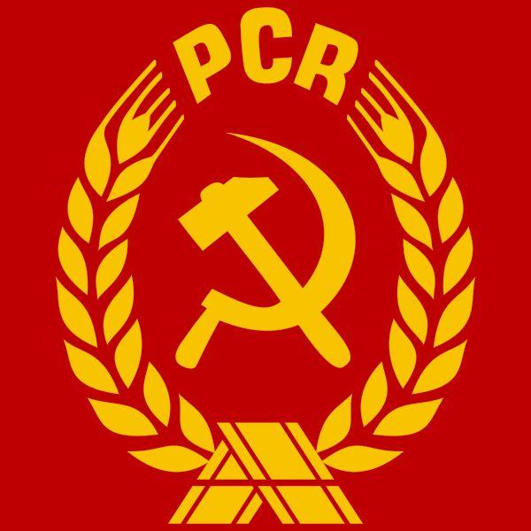 Partidul Comunist Roman are ca simbol secera si ciocanul