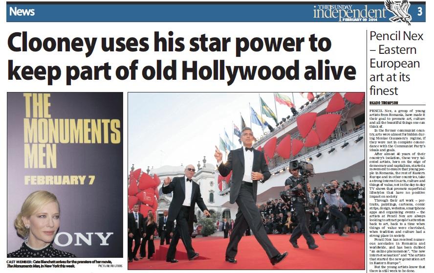Romanii au fost laudati pe aceeasi pagina cu George Clooney