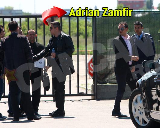 Adrian Zamfir l-a condus pe print la aeroport