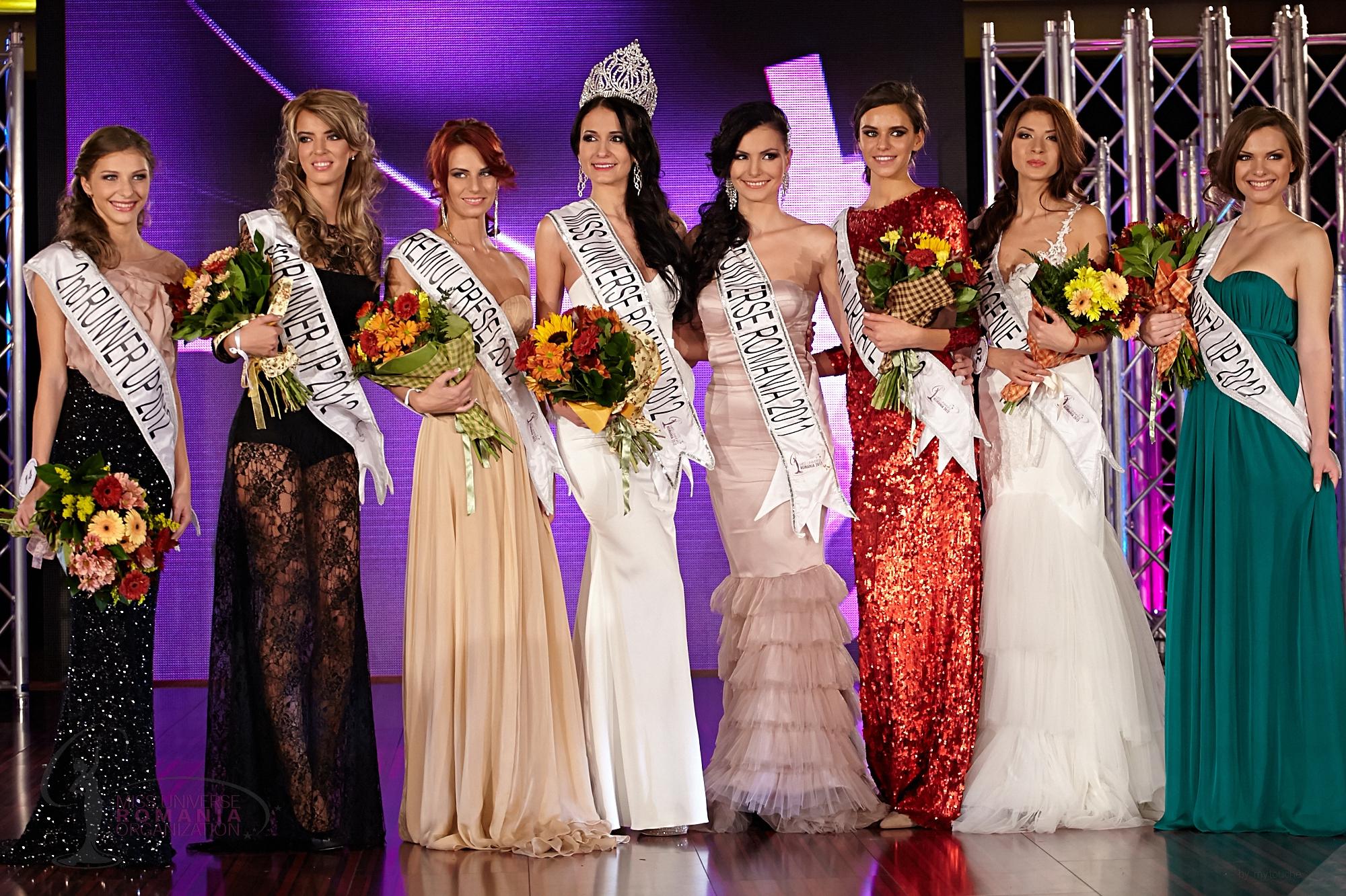 Ioana a urcat de doua ori pe podiumul Miss Univers Romania