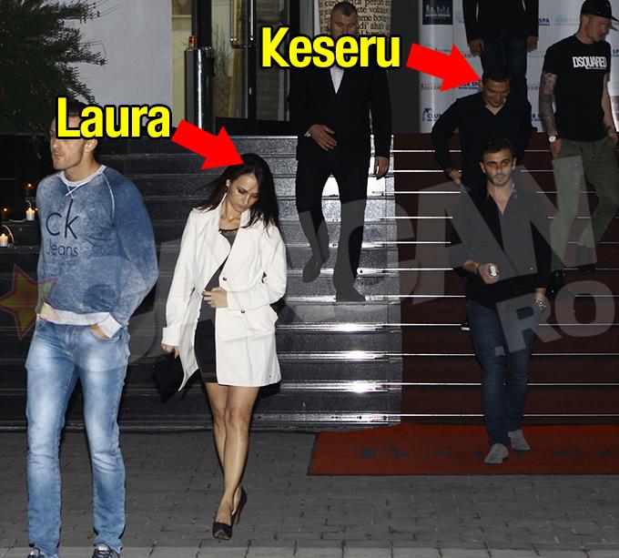 La plecare, Laura a luat-o in fata sotului ei, lasandu-l pe fotbalist mult in urma
