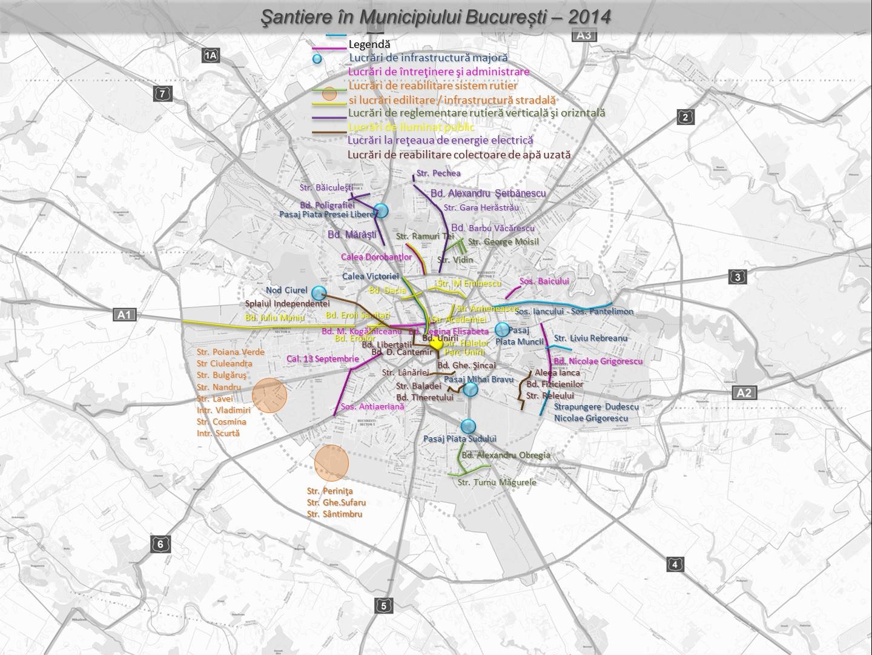 Harta santierelor din Capitala