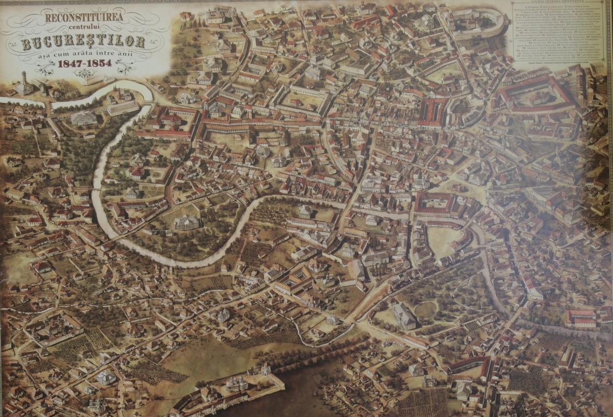 Harta veche a centrului istoric al Capitalei