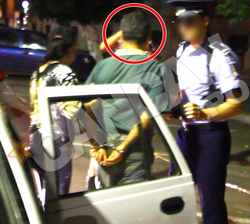 In aceasta noaptea, barbatul a fost arestat pentru 24 de ore