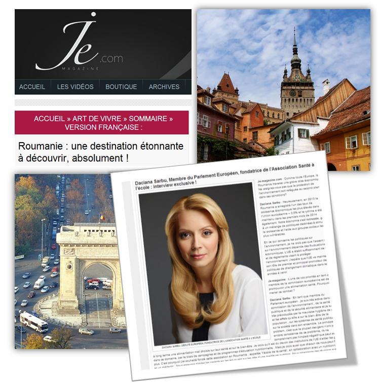 Eurodeputata a acordat un interviu publicatiei franceze JE- magazine, in care a vorbit in termeni elogiosi despre Romania