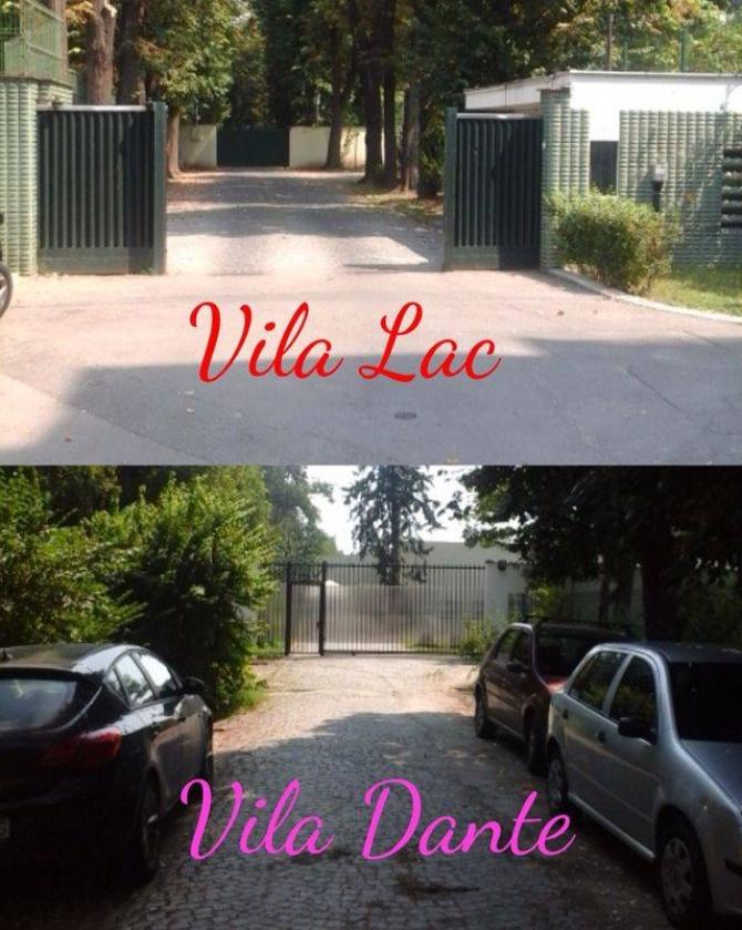 Asa arata cele doua intrari, la Vila Lac 3 si Vila Dante. Prima este cea unde a intrat Klaus Iohannis sursa: DCnews.ro