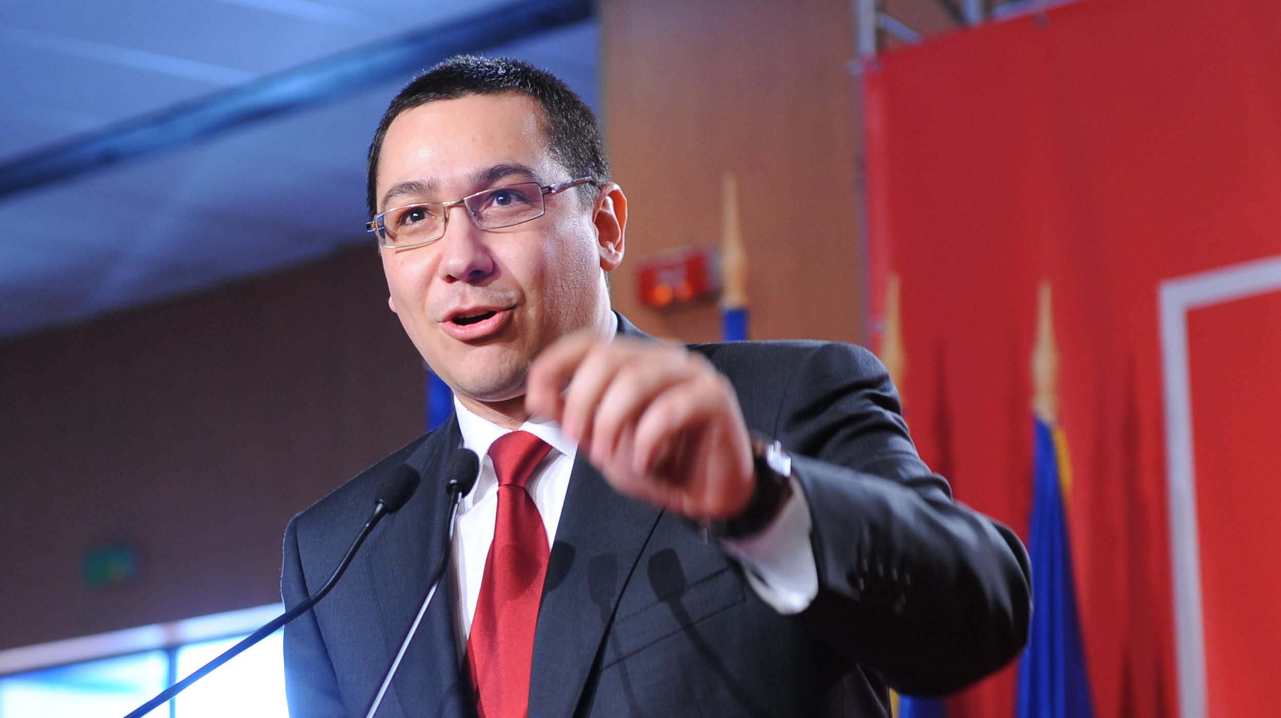 Victor Ponta isi lanseaza sambata candidatura la alegerile prezidentiale