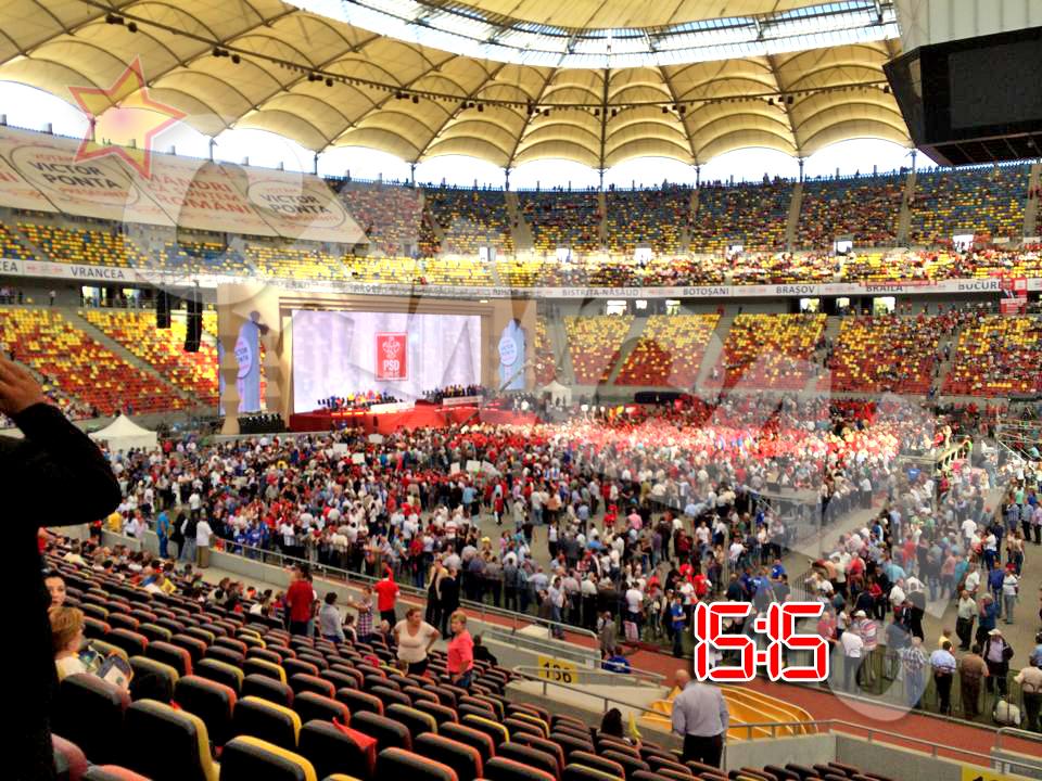 Stadionul National este aproape plin