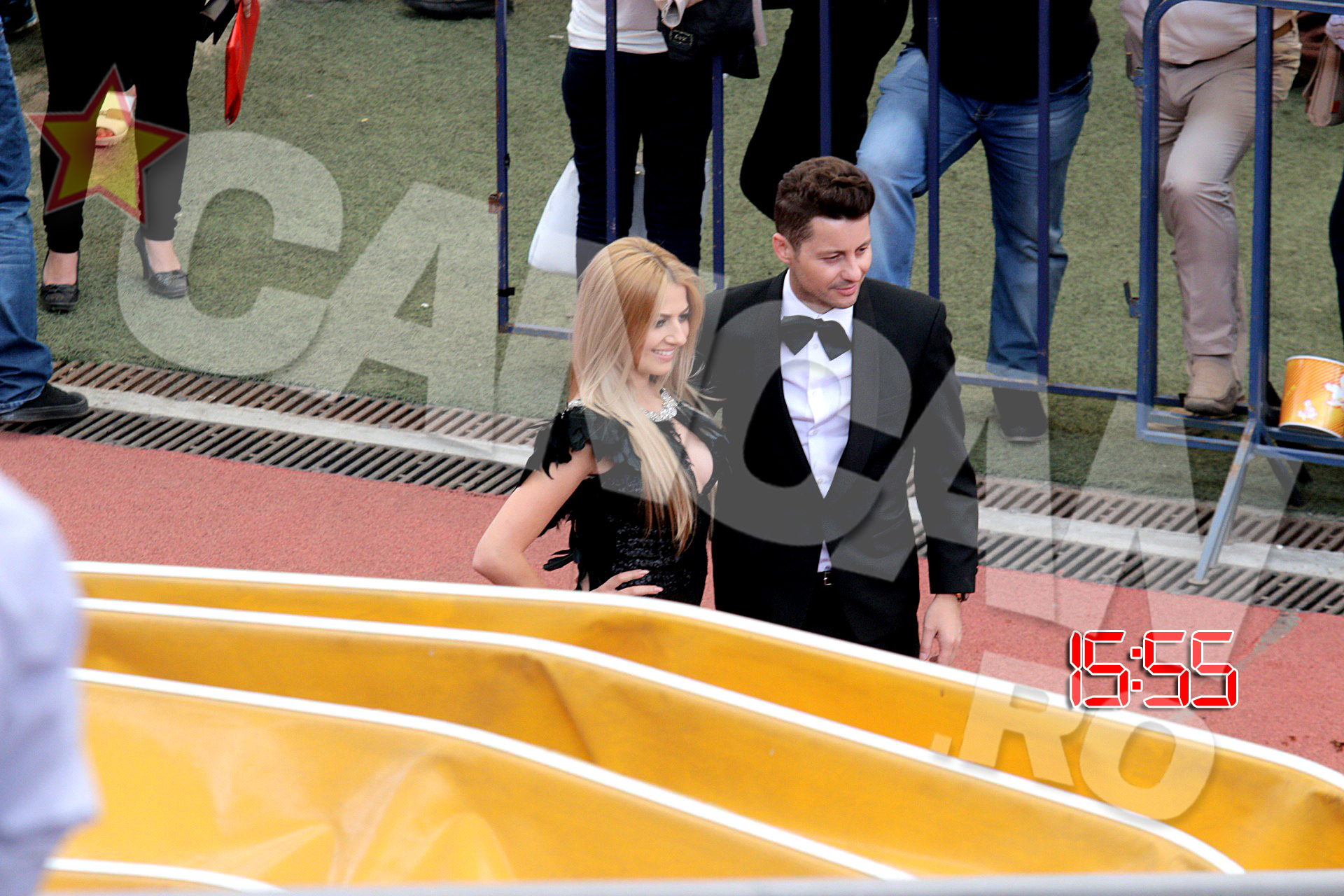 Adrian Sana si Lidia Buble au ajuns la Stadionul National