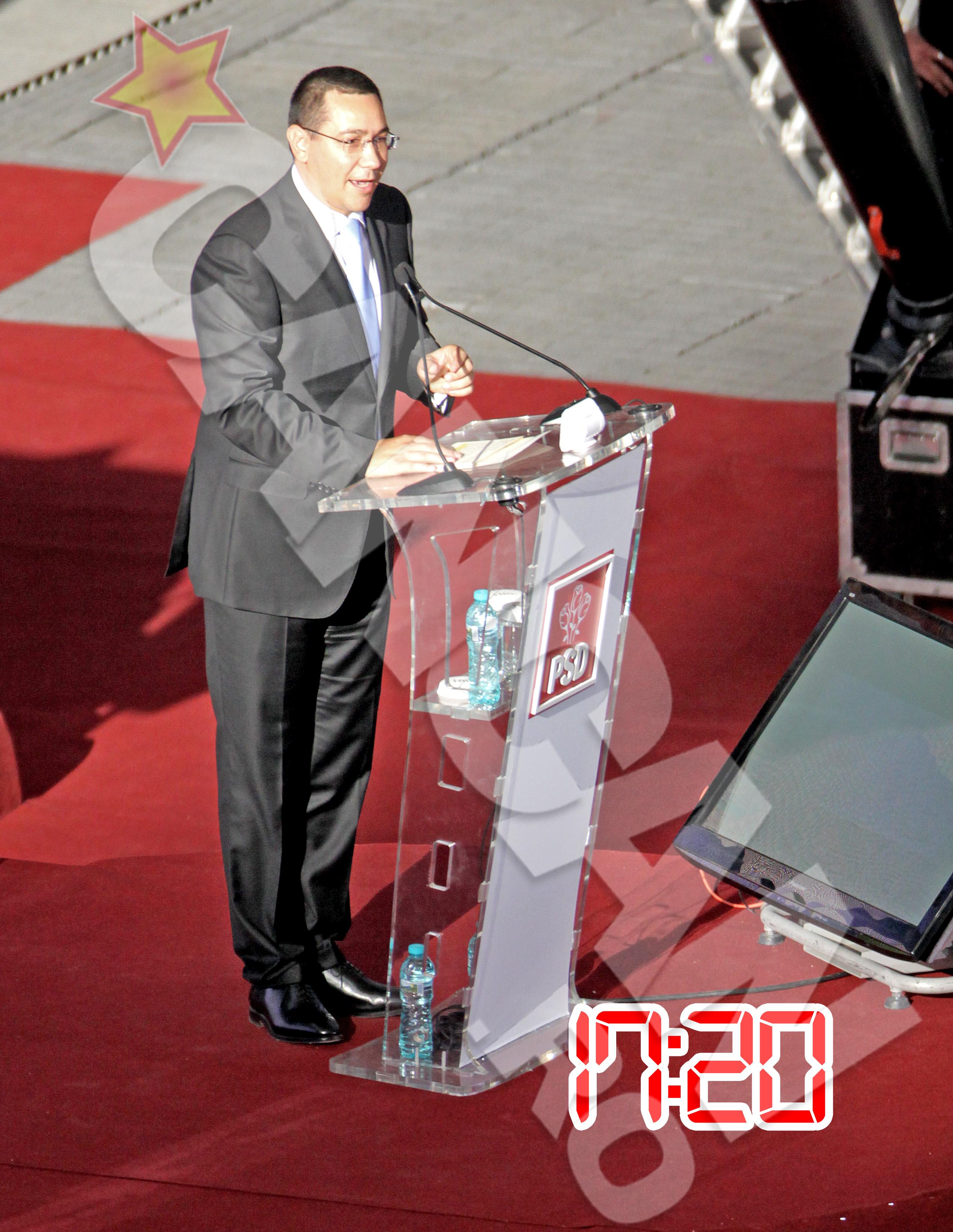 Victor Ponta si-a sustinut discursul in aplauzele a peste 70.000 de romani