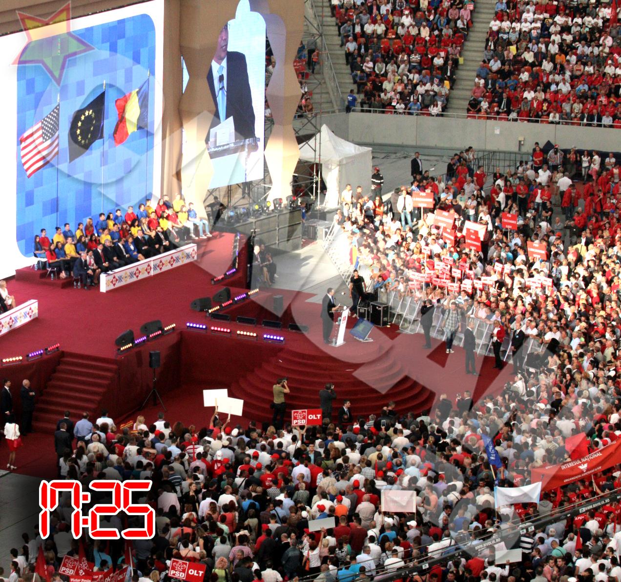 O sala intreaga s-a ridicat in picioare la cuvintele lui Victor Ponta, vibrand la unison cu fiecare cuvant rostit de acesta