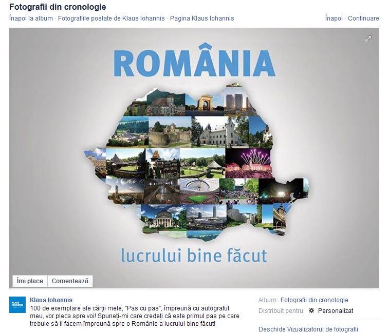 Imaginea folosita de Klaus Iohannis in campanie