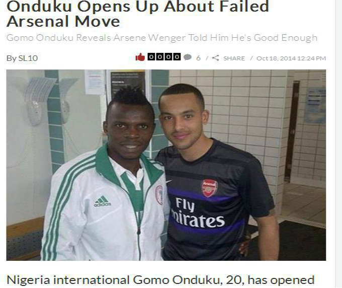 Onduku la Arsenal, un subiect dezbatut chiar si in presa din Anglia