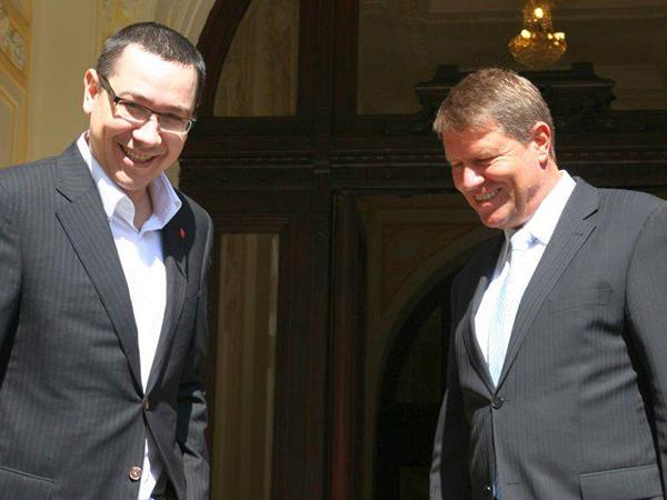 Victor Ponta si Klaus Iohannis