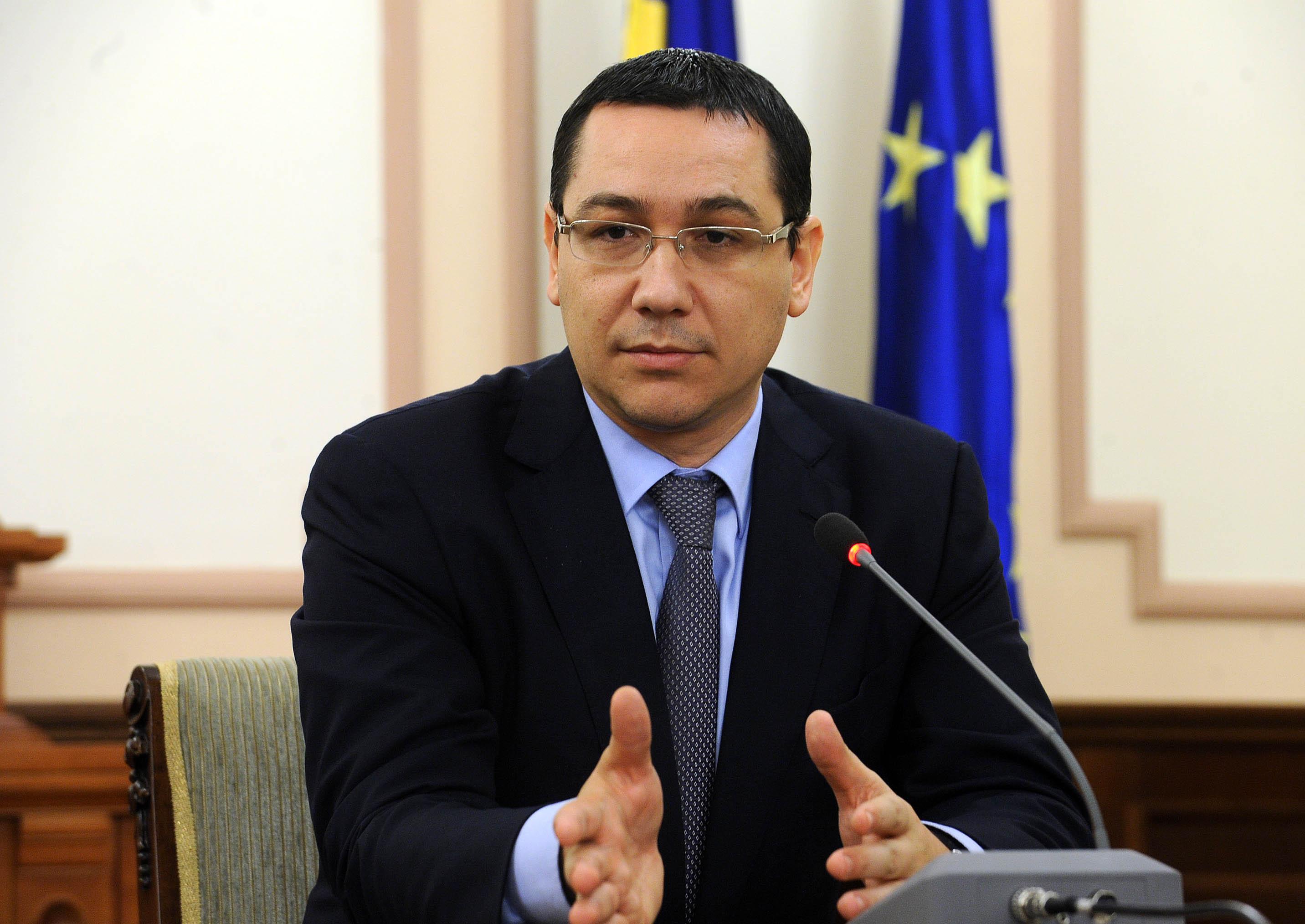 Victor Ponta a sustinut o conferinta de presa de la sediul MAE