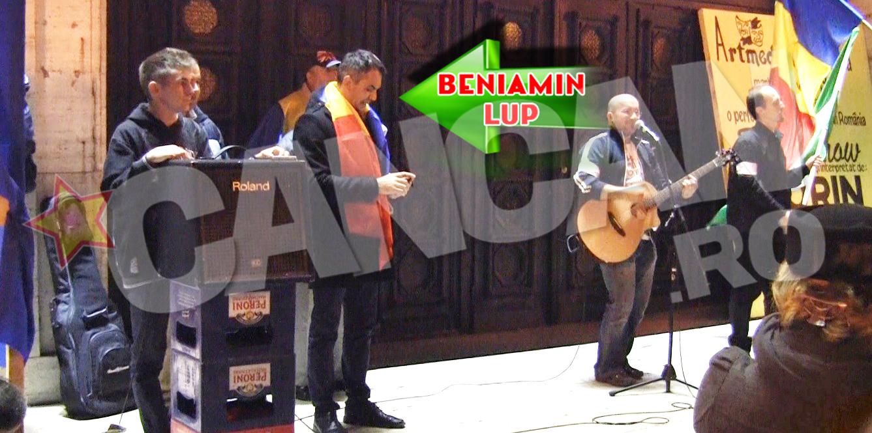 Beniamin Lup, sustinatorul lui Iohannis, a fost organizatorul protestului