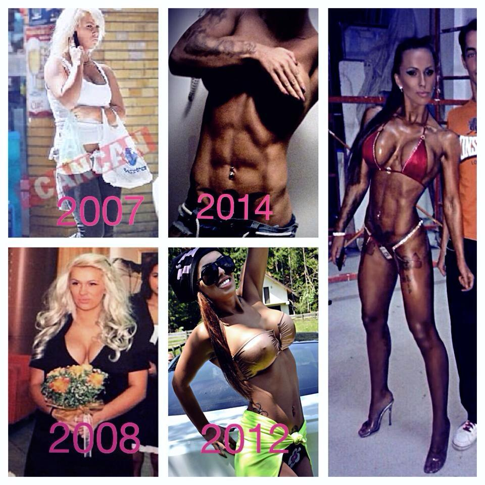 Tanara are la activ deja mai multe concursuri de fitness, iar corpul ei pare sculpat