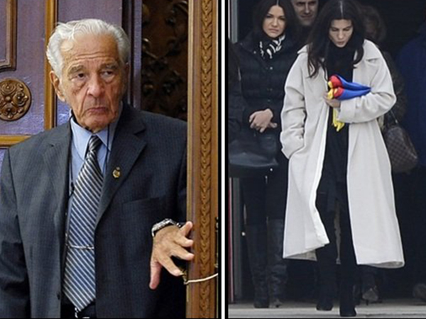 Dana Nicolaescu s-a imbracat in alb la funerariile sotului sau