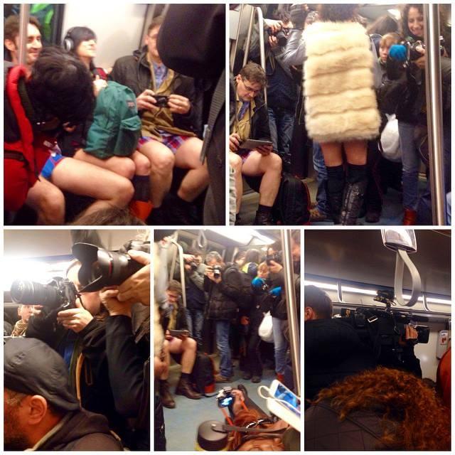 Fara pantaloni la metrou