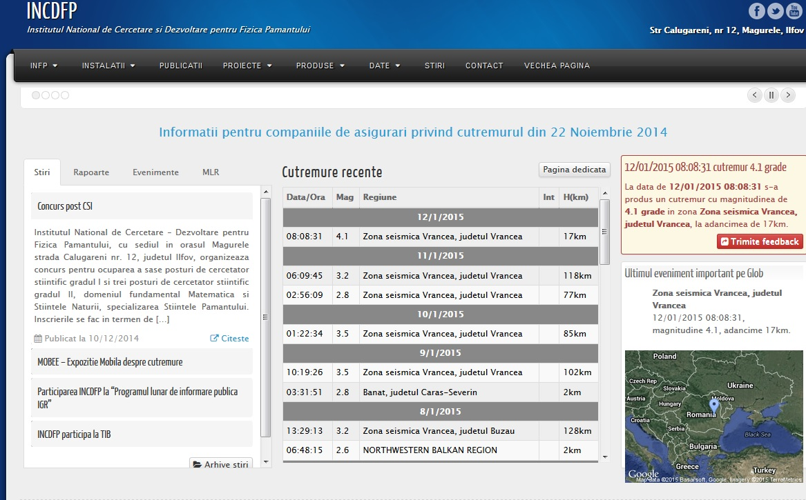 Nici nu a inceput bine anul, ca au fost inregistrate deja opt cutremure, majoritatea cu epicentrul in Vrancea