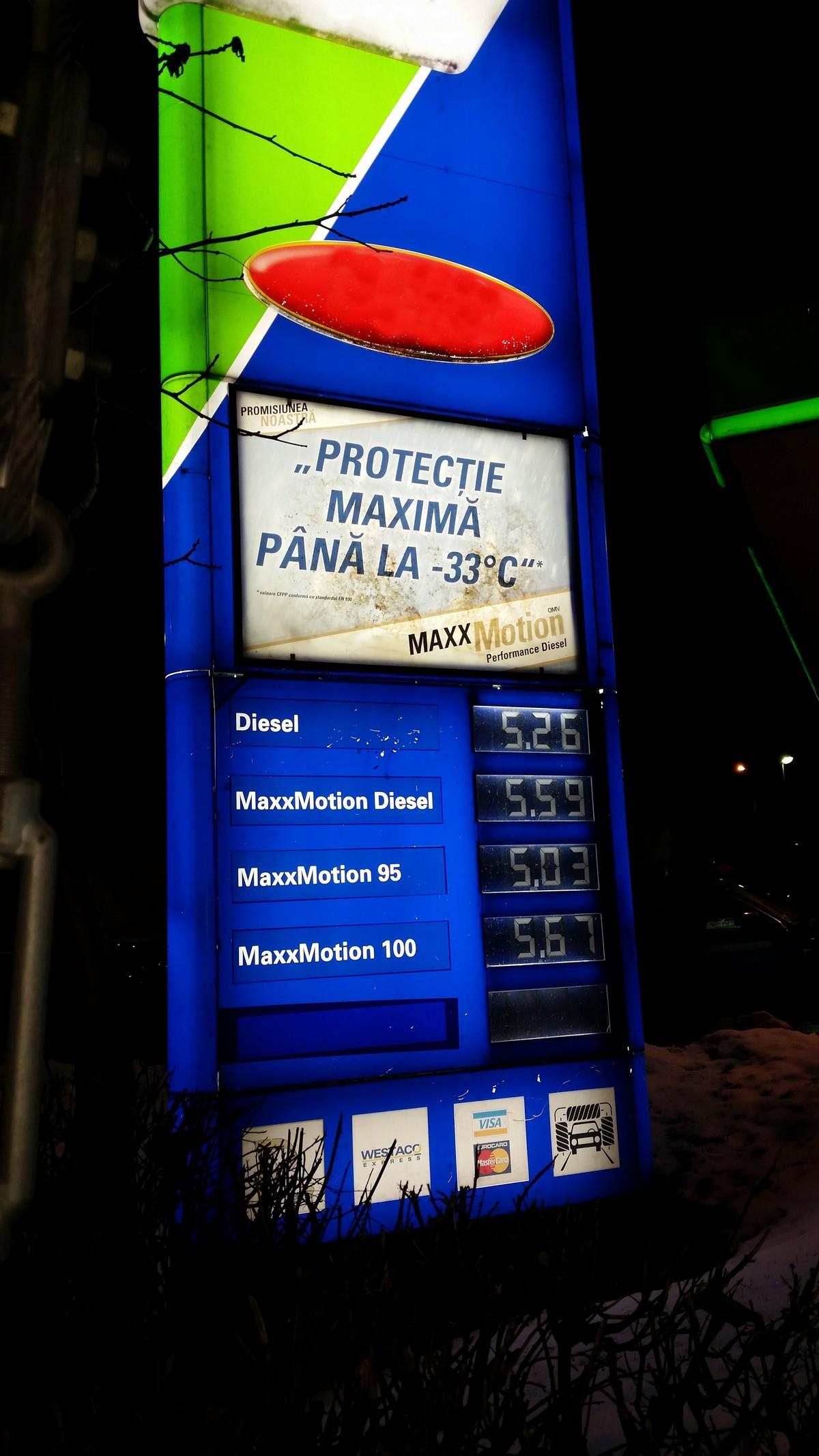 La un pas de iesirea din Bucuresti pretul a scazut deja cu cativa bani per litru