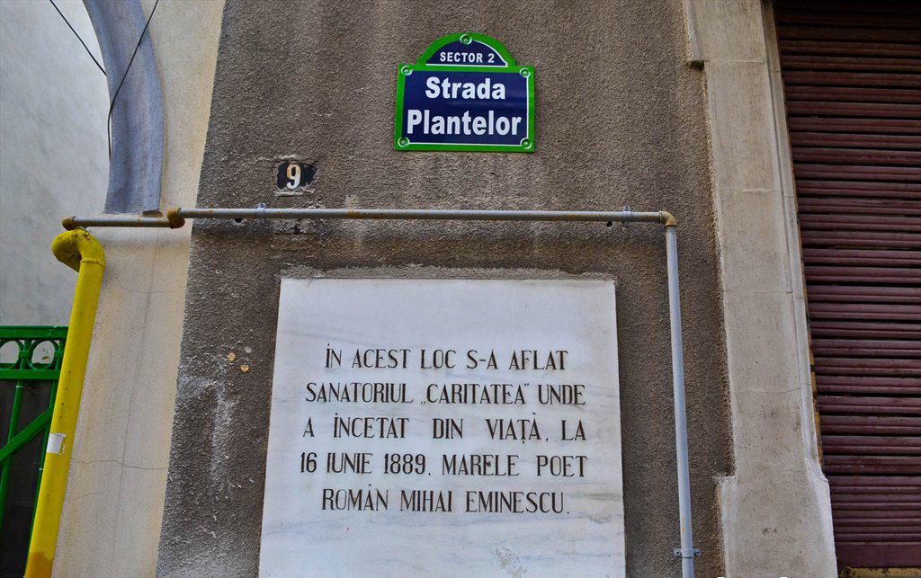 Casa in care a murit Eminescu se afla pe strada Plantelor, in sectorul 2