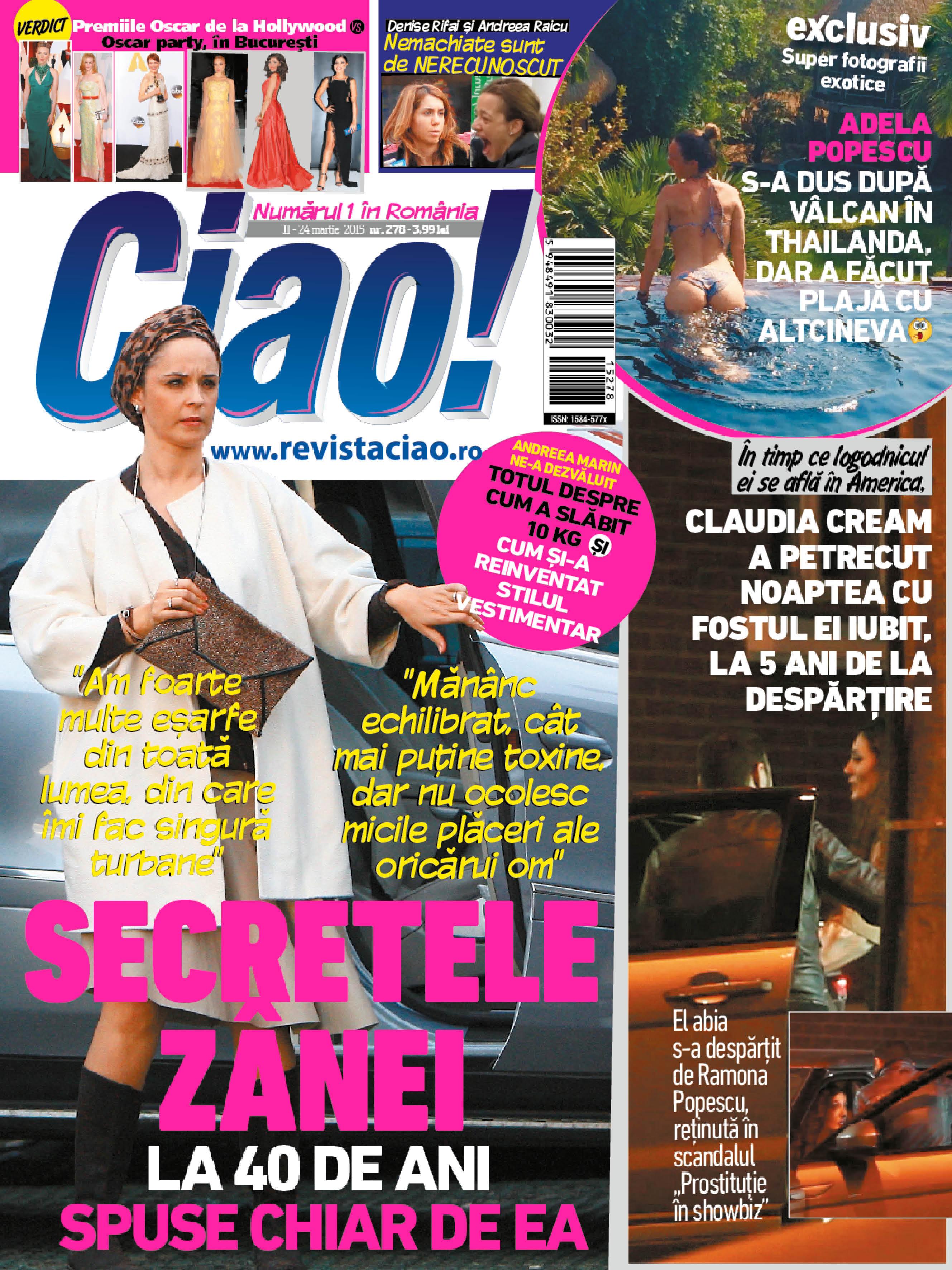 Mai multe detalii despre aventura artistei gasiti in noul numar al revistei CIAO!