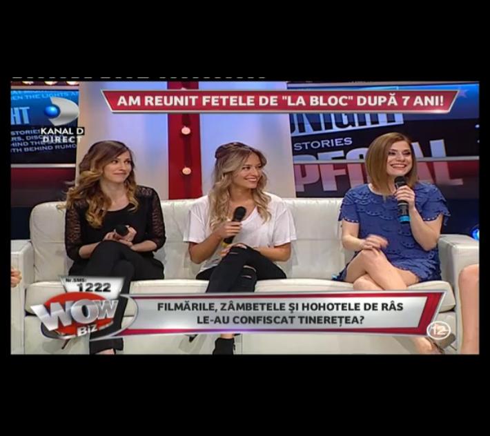 Fetele de La Bloc s-au reunit intr-o emisiune TV