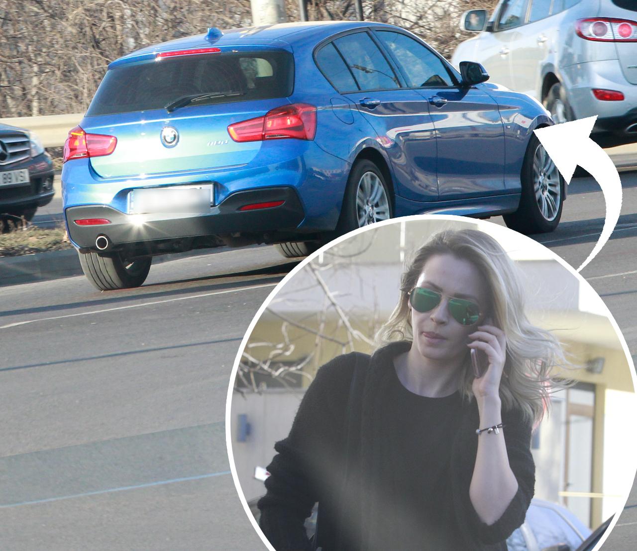 Alina Crişan, la volanul maşinii despre care spunea că a fost vandalizată de către DDY Nunes