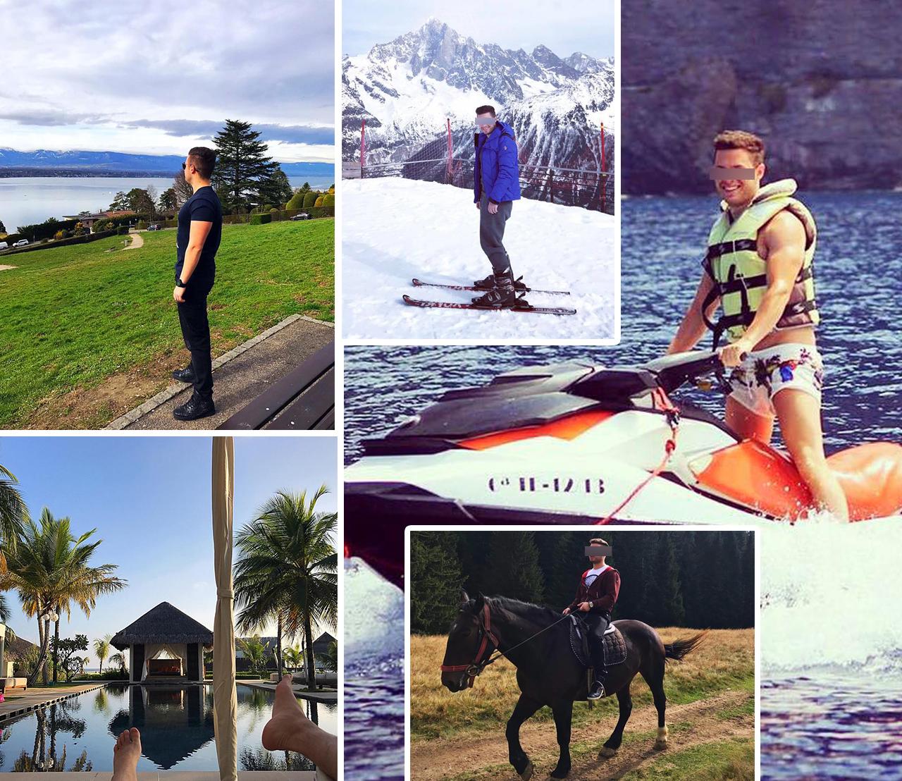 Puştiul, care trăieşte în Elveţia, are lumea la picioare: merge în vacanţe super-luxoase şi trăieşte viaţa la maxim