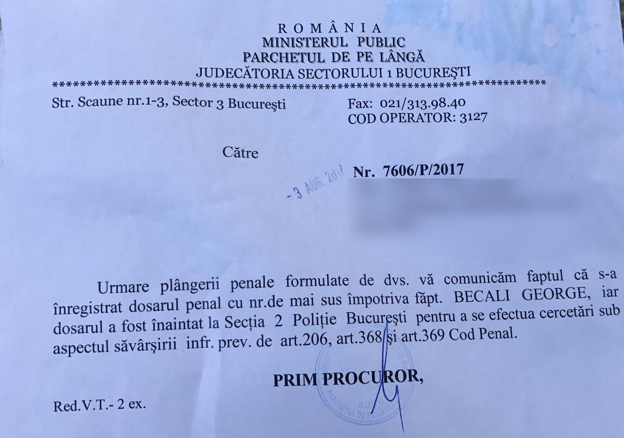 Procurorii au trimis dosarul la Poliţie
