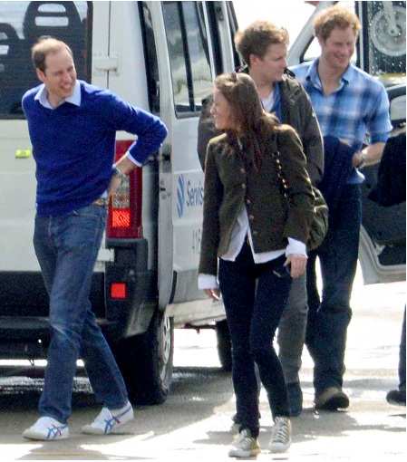 Printul William si-a petrecut weekend-ul trecut in compania unei foste iubite