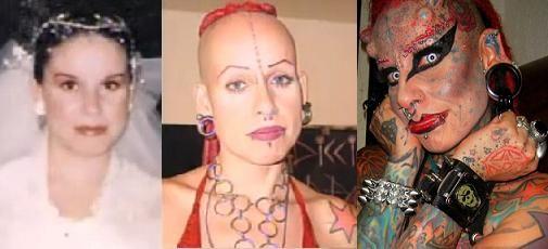 Femeia vampir s-a transformat radical dupa ce si-a facut tatuaje si si-a pus pierceuri