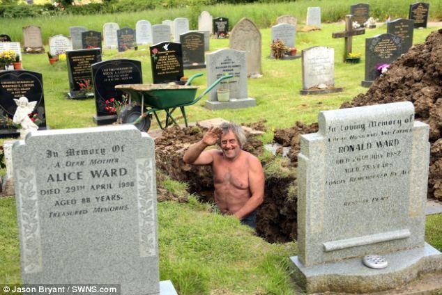 gropar in cimitir
