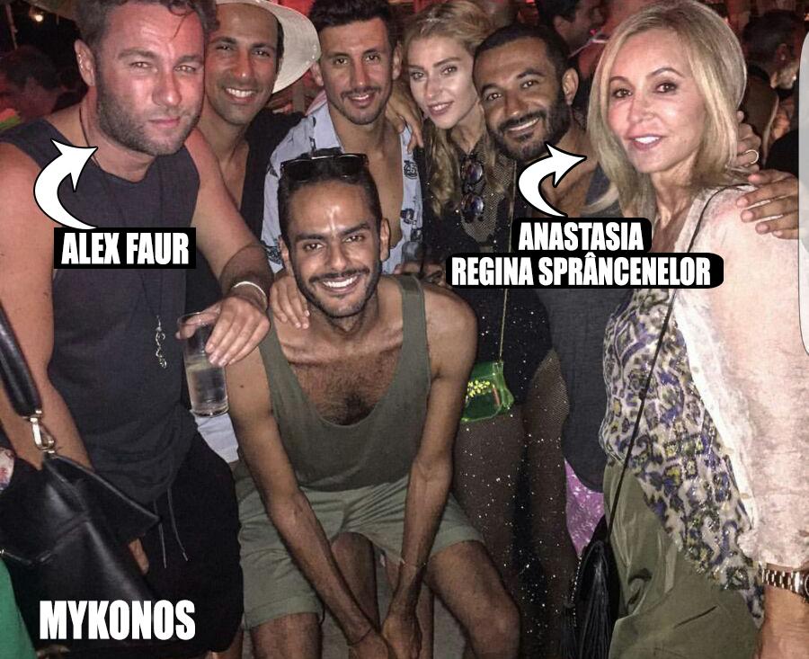 Fostul prieten al lui Rani şi gaşca din Mykonos. Printre arabi, indieni şi alţii, o vedem şi pe Anastasia Soare, regina sprâncenelor din Beverly Hills