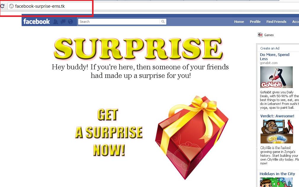 Acesta este instalat printr-un singur click pe un site malitios, care pare sa provină de la facebook.